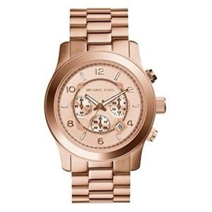 Michael Kors used MK8096 large rose gold watch